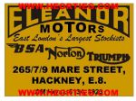 Eleanors Hackney Motorcycle Dealer Decals Transfers DDQ115